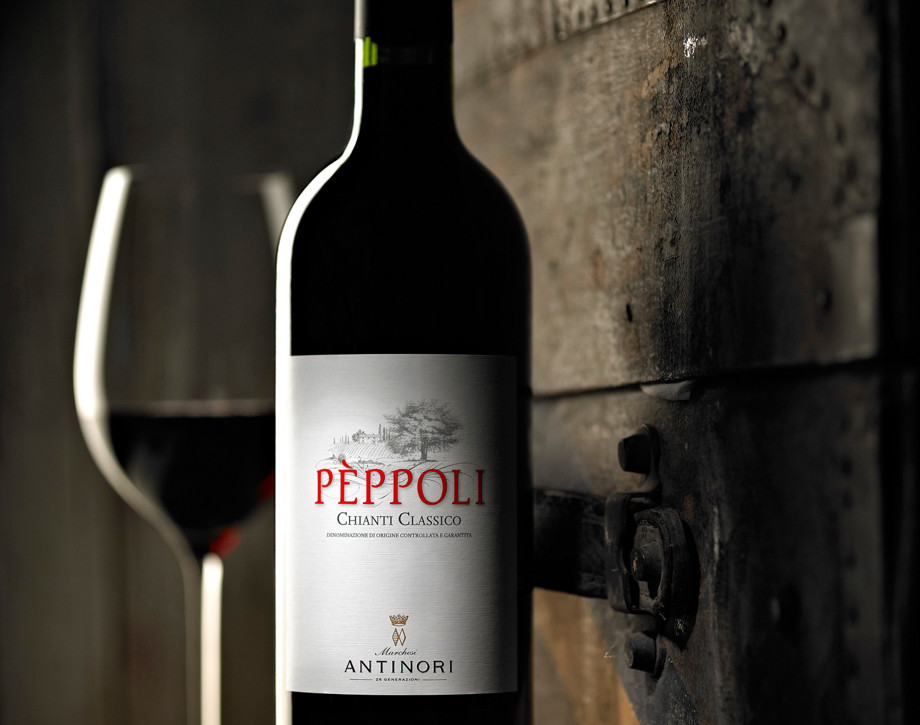 Peppoli Chianti Classico wine bottle