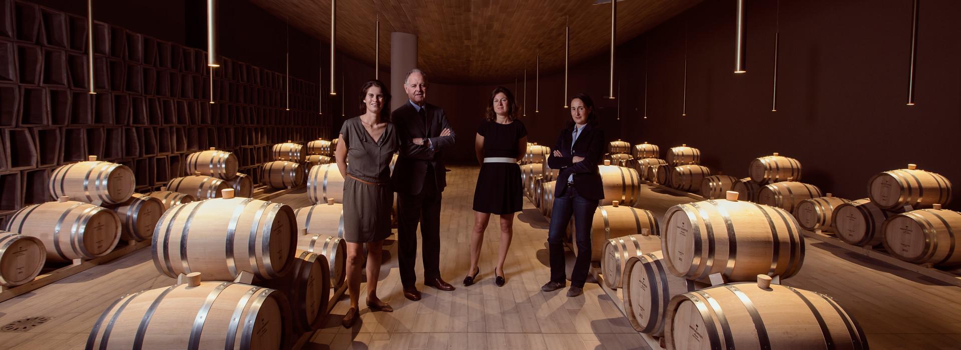 Antinori Family in wine cellar